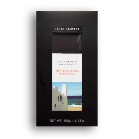 Chocolate negro y flor de sal de Ibiza