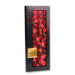 Chocolate negro con flores