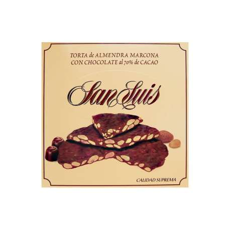 Torta de almendra marcona con chocolate