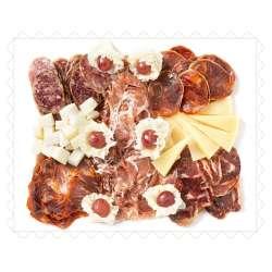 Bandeja ibérica y quesos curados