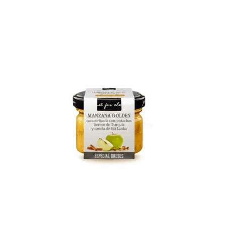 Salsa para queso manzana Golden con pistachos y canela