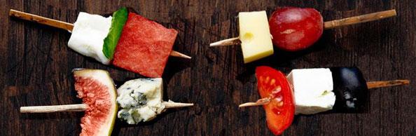 Pinchos de queso para fiestas