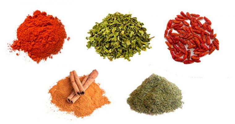 Especias y condimentos para tus platos preferidos